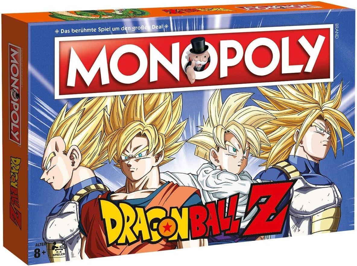 MONOPOLY Dragonball Z Edition – Son Goku, Trunks, Vegeta und Son Gohan Brettspiel DBZ