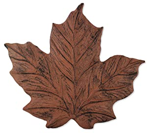Sunset Vista Designs Wilderness Wonders Cast Iron Maple Leaf Stepping Stone, 11-1/2 by 12-Inch