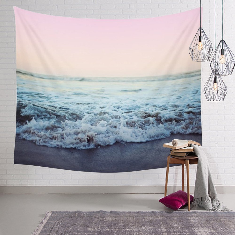 Arfbear Elephant Tapestry, Wall hangings Pink and Purple Hippie Trippy Large tablecloths Wall Tapestry for Bedroom 59x83.9inches USDXGT
