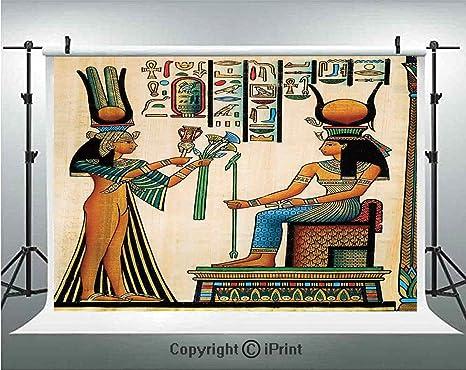 Fondo de fotografía egipcio de Papyrus egipcio con imagen de reina ...