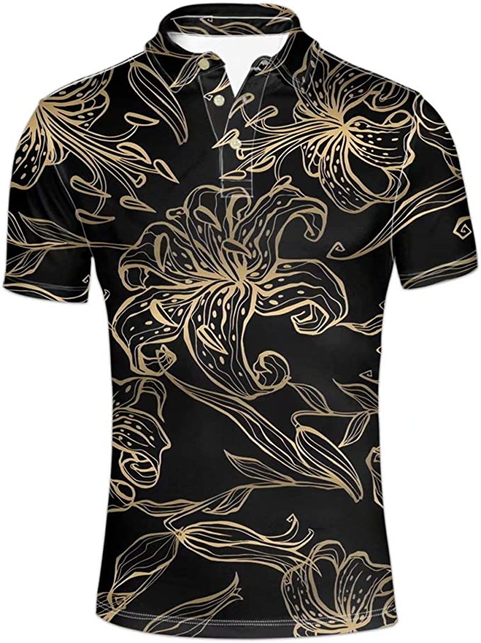Pensura Fashion Polos Shirt Casual Slim Short Sleeve Shirt Tees Tops for Men