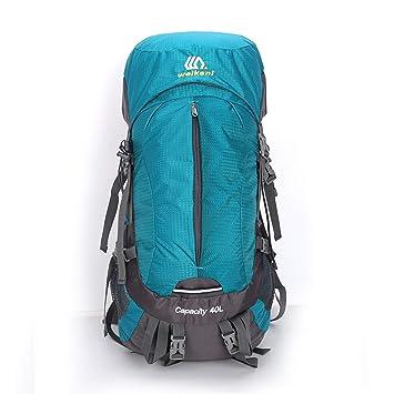 QKa Mochila con Marco Interno de 40 litros, Paquetes de mochileros para Caminatas al Aire Libre Viajes de Escalada Acampar Alpinismo con Cubierta de Lluvia ...