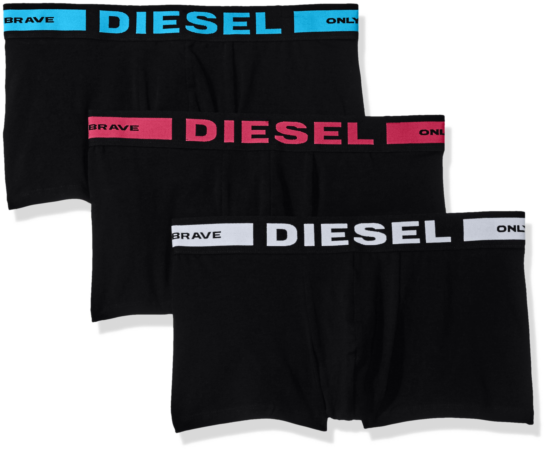Diesel Men's Essentials 3-Pack Kory Boxer Trunk,Red/White/Blue,M by Diesel (Image #1)
