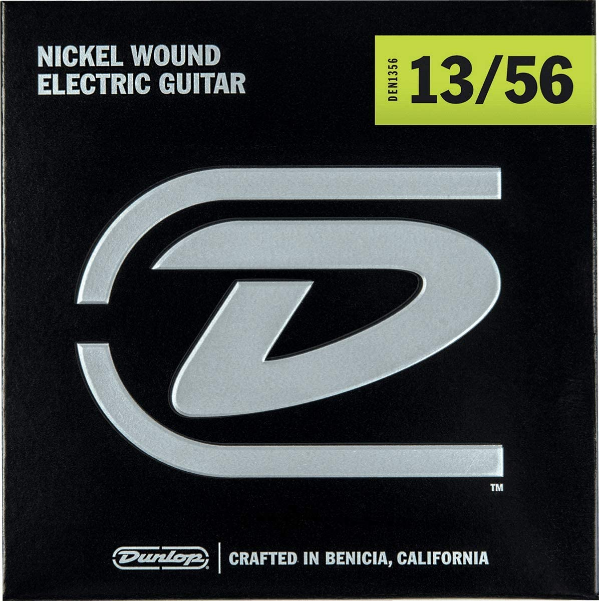 Amazon Com Dunlop Den1356 Nickel Wound Electric Guitar Strings Extra Heavy 013 056 6 Strings Set Musical Instruments