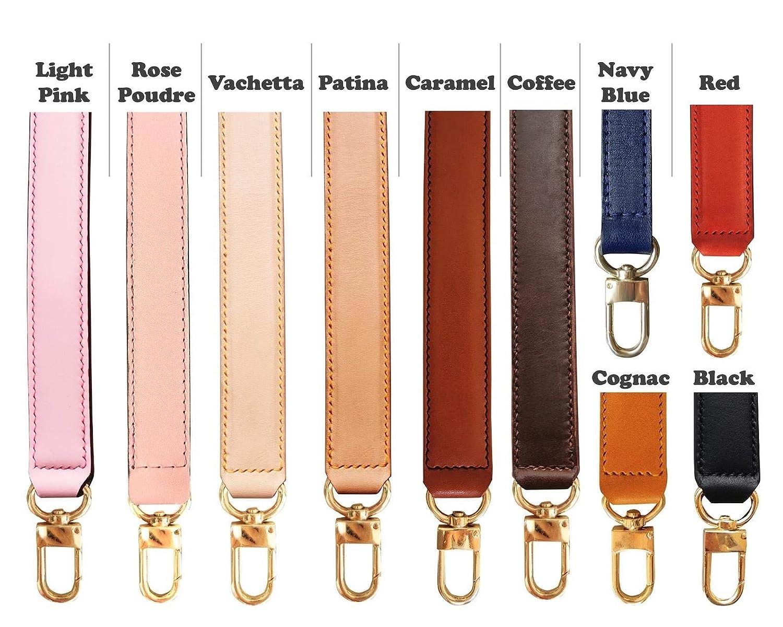 Customized in Any Length Designer Tote Crossbody Bag Genuine Vachetta Leather Gold Silver Brass Clasps Top Handle Purse Handbag Strap