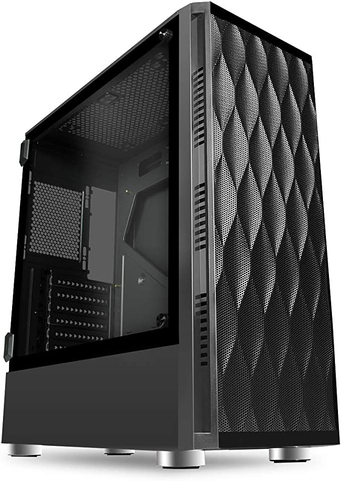 Mid-Tower ATX Sieben RGB CiT Raider PC-Gaming-Geh/äuse