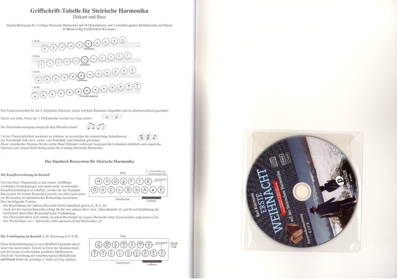 mit CD Erste Weihnacht Steirische Harmonika Noten LEICHT