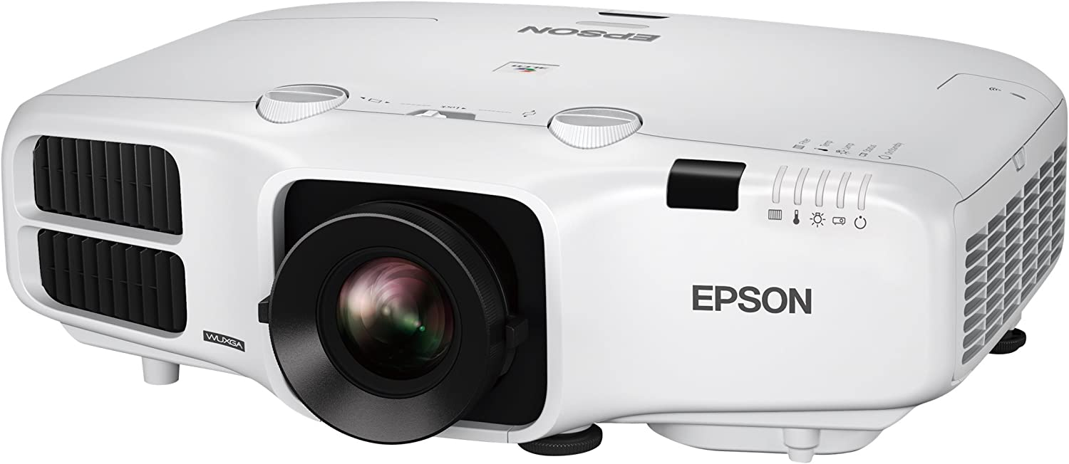 Epson V11H824020 PowerLite 5530U LCD Projector, Black/White
