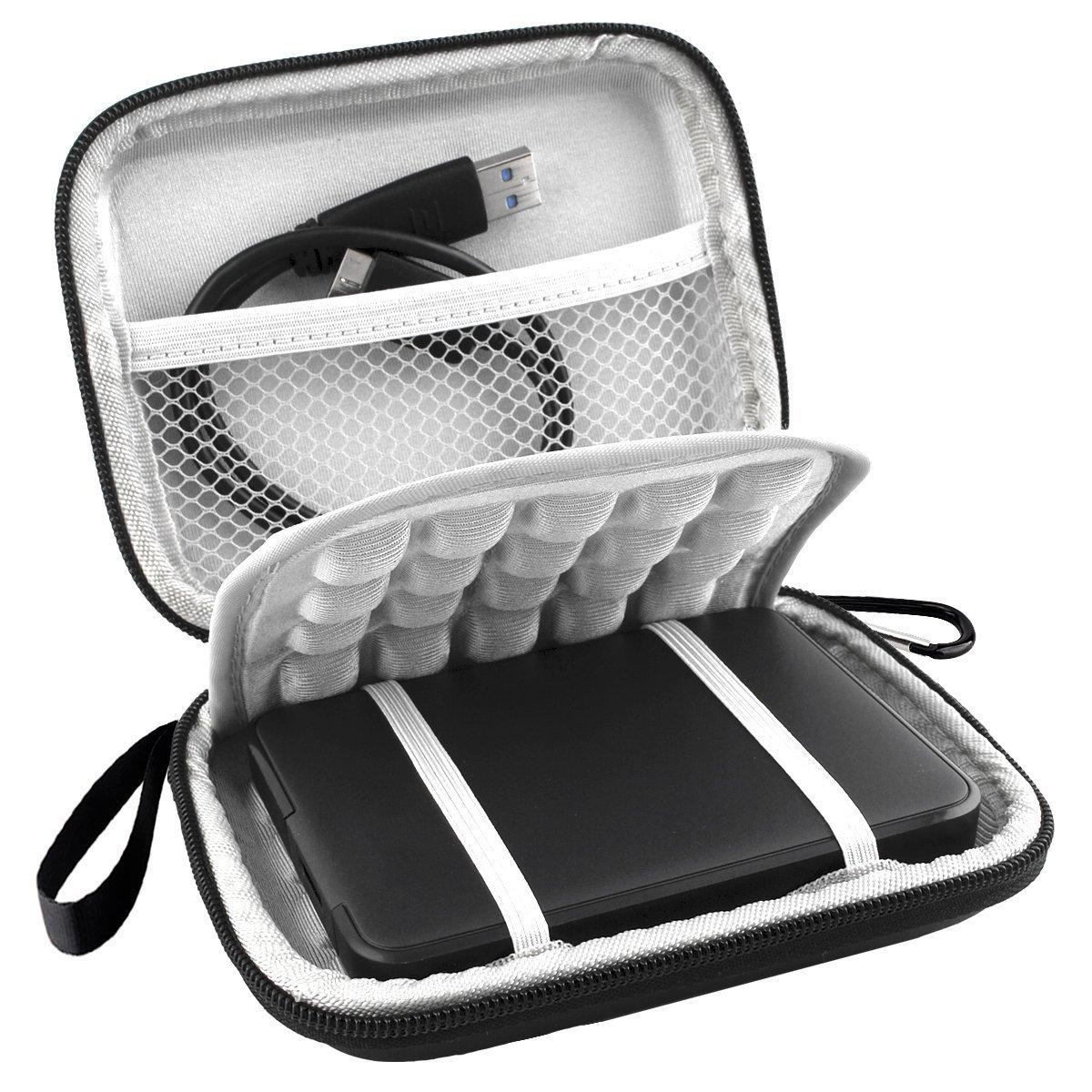 Lacdo EVA Shockproof Carrying Case for Western Digital My Passport Studio Ultra Slim Essential WD Elements SE Portable 500GB 1TB 2TB USB 3.0 Portable 2.5 inch External Hard Drive Travel Bag