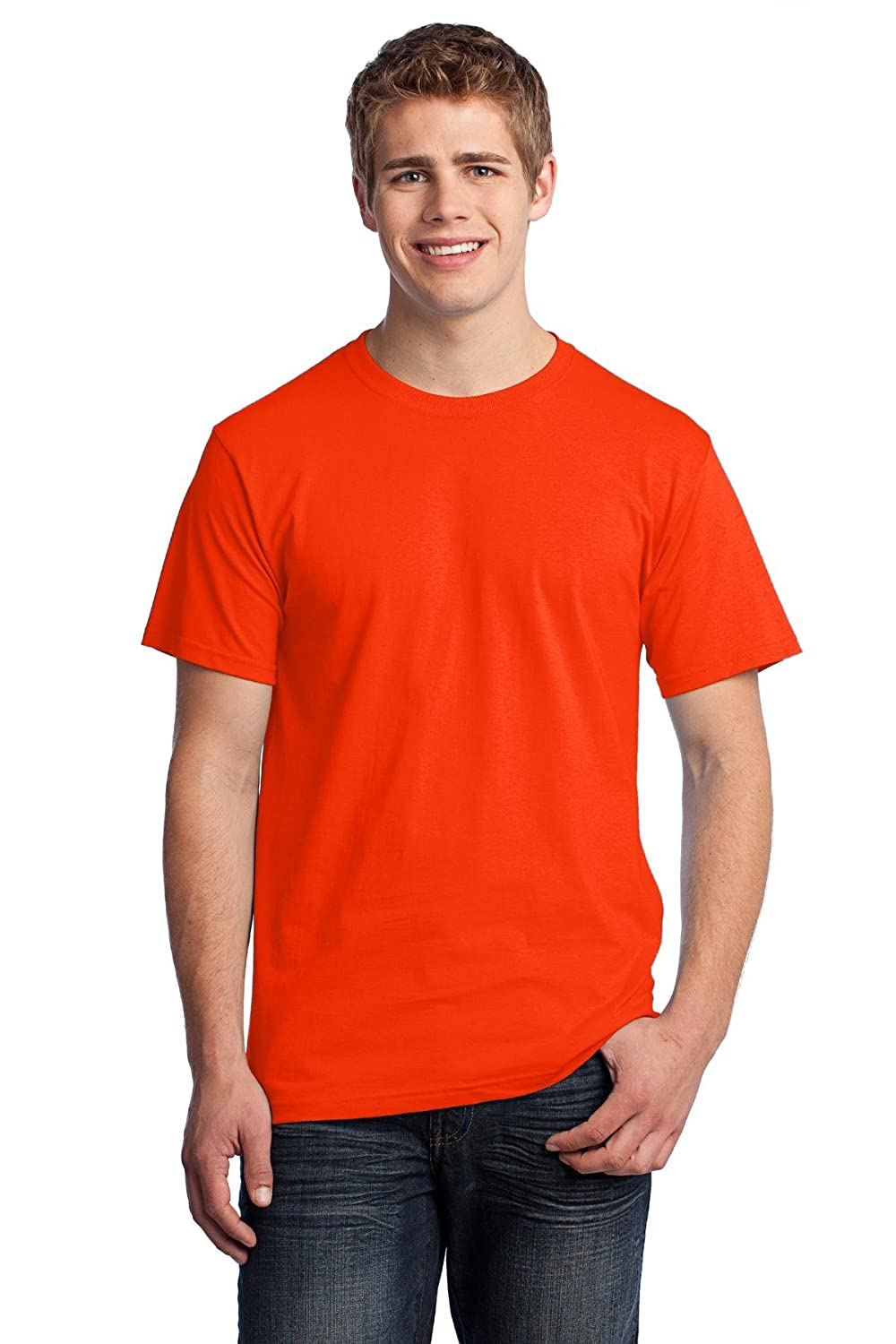Fruit of the Loom 3930 100/% Heavy Cotton Tee Burnt Orange 3 Pack