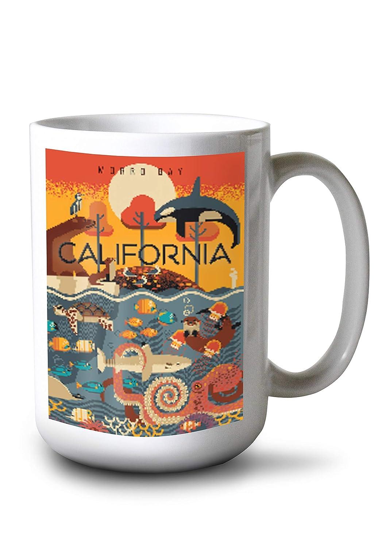 【国内発送】 Morro Mug Morro Bay, Geometric California – 海洋動物 – Geometric Canvas Tote Bag LANT-86390-TT B07KJD7C6J 15oz Mug 15oz Mug, 庵原郡:243f5c55 --- arianechie.dominiotemporario.com