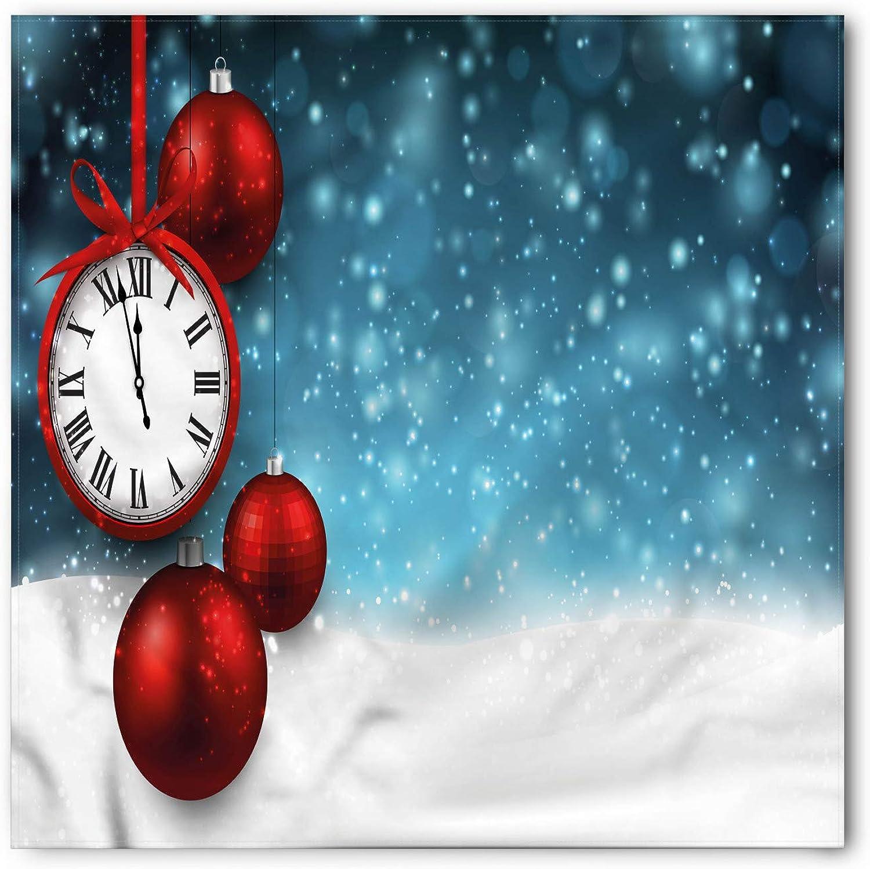 Ambesonne Clock Head Scarf Hair Wrap Vintage New Year Balls