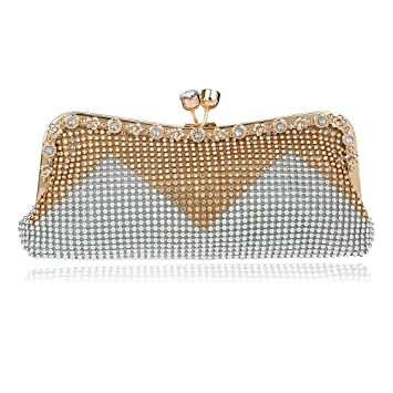 9cfb597ceb KYS Women Day Clutch Evening Bags Diamonds Beaded Soft Small Chain Shouler Messenger  Bag Crystal Wedding