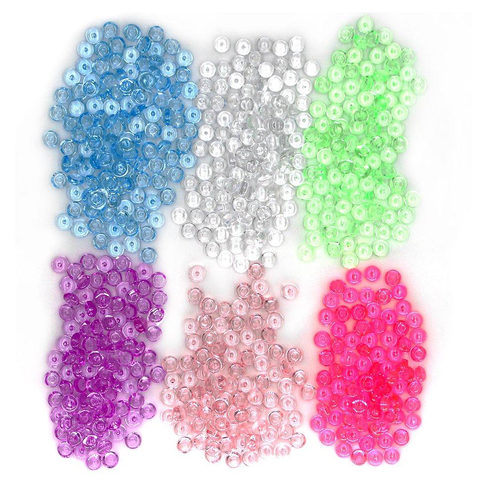 Perlas de Pecera para crujientes Slime, Colorful 12 onzas pecera Slime perlas jarrón para cuentas para boda y fiesta decoración casera, Limo, ...