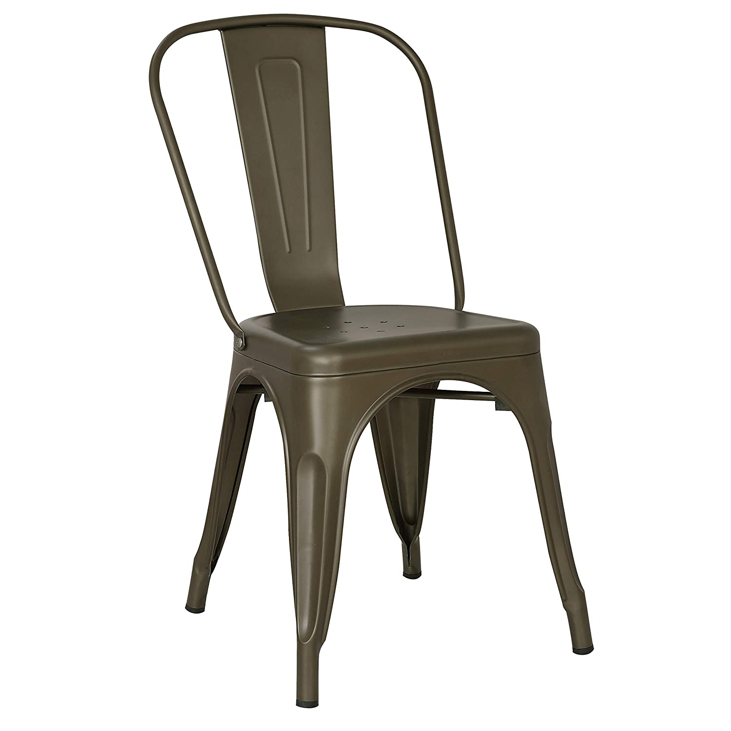 POLY BARK EM-112-BRZ-X4 Poly and Bark Trattoria Side Chair in Bronze Set of 4
