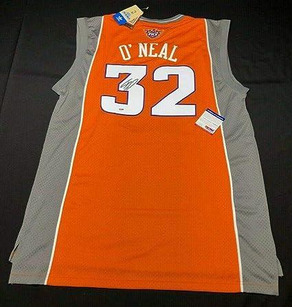 Shaquille  Shaq  O Neal Signed Phoenix Suns Adidas Hardwood Classics Jersey  - PSA b21e590b8