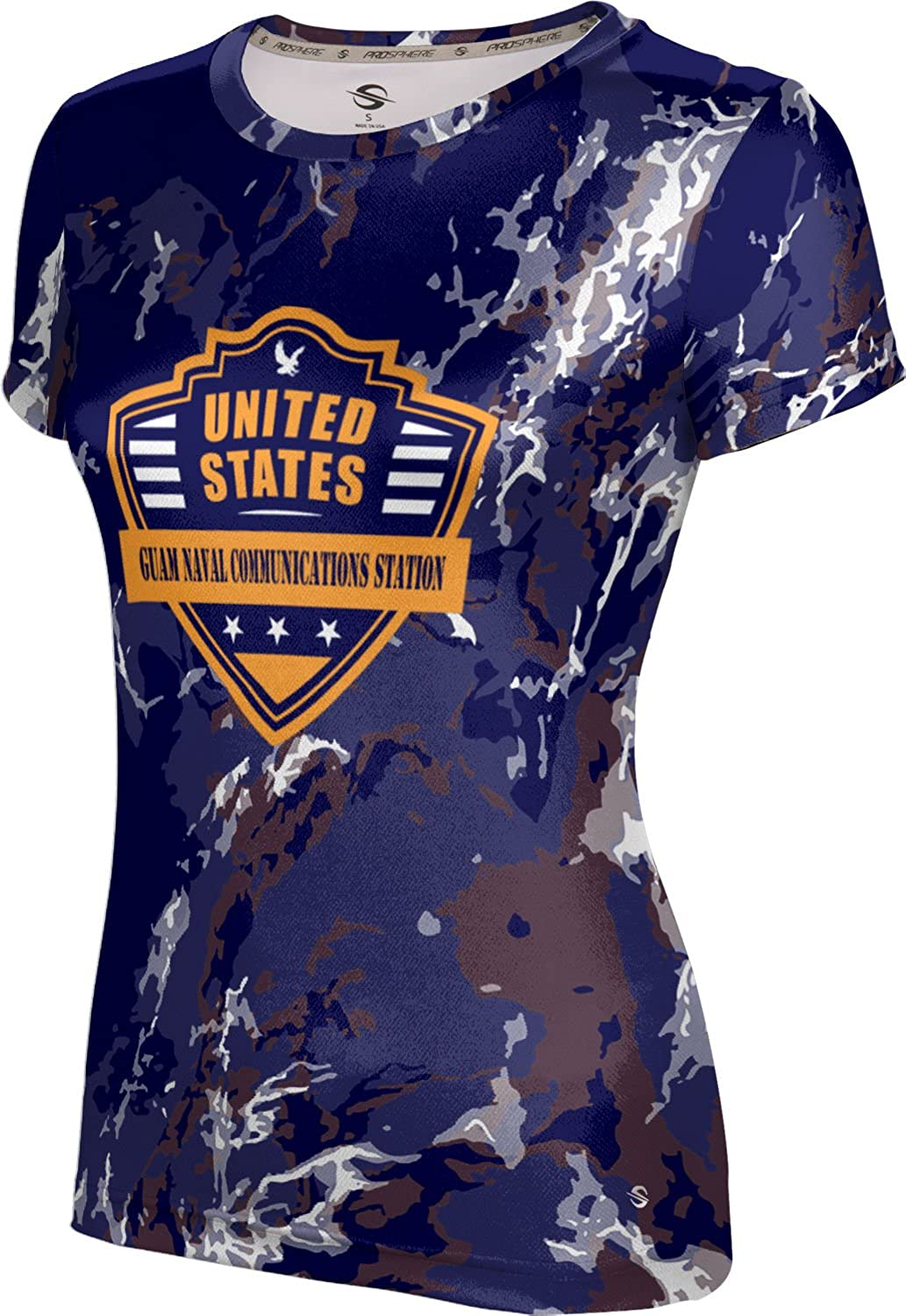 ProSphere Women's Guam Naval Communications Station Military Marble Tech Tee