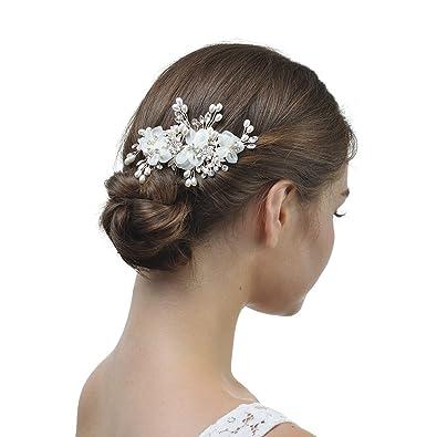 dans quelques jours nouveau style et luxe sortie en vente AWEI Fleur Accessoire Cheveux Mariage en Strass Décoration ...