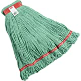 Rubbermaid Commercial Web Foot Wet Mop, Large, 1-Inch Red Headband, Green (FGA11306GR00)