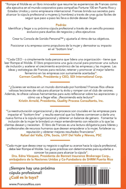 Rompe el Molde (Spanish Edition): Frances Rios: 9780990718932: Amazon.com: Books