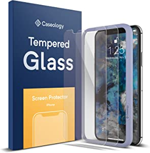 Caseology Screen Protector for iPhone Xs Tempered Glass (2018) - 2 Pack