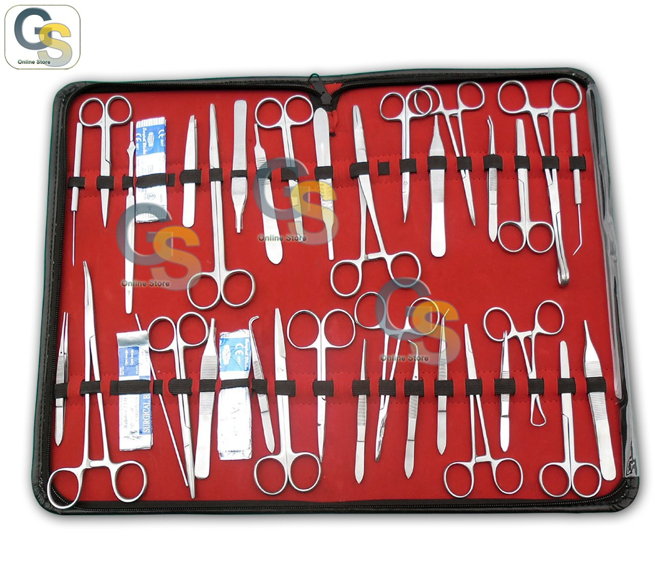 G.S 96 PC US MILITARY FIELD VETERINARY DENTAL INSTRUMENT KIT by G.S SURGICAL