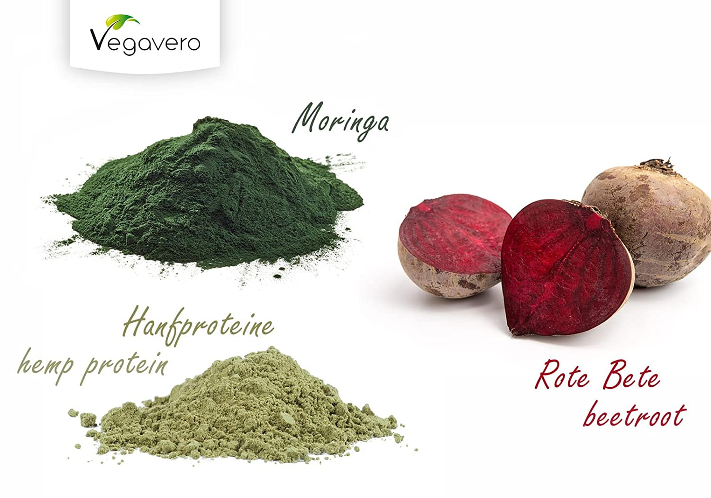 Superfood Vitality Mix Orgánico | 200 g | Proteína de Cáñamo + Moringa Oleifera + Remolacha | 100% Vegano | Sin Aditivos | Vegavero: Amazon.es: Salud y ...