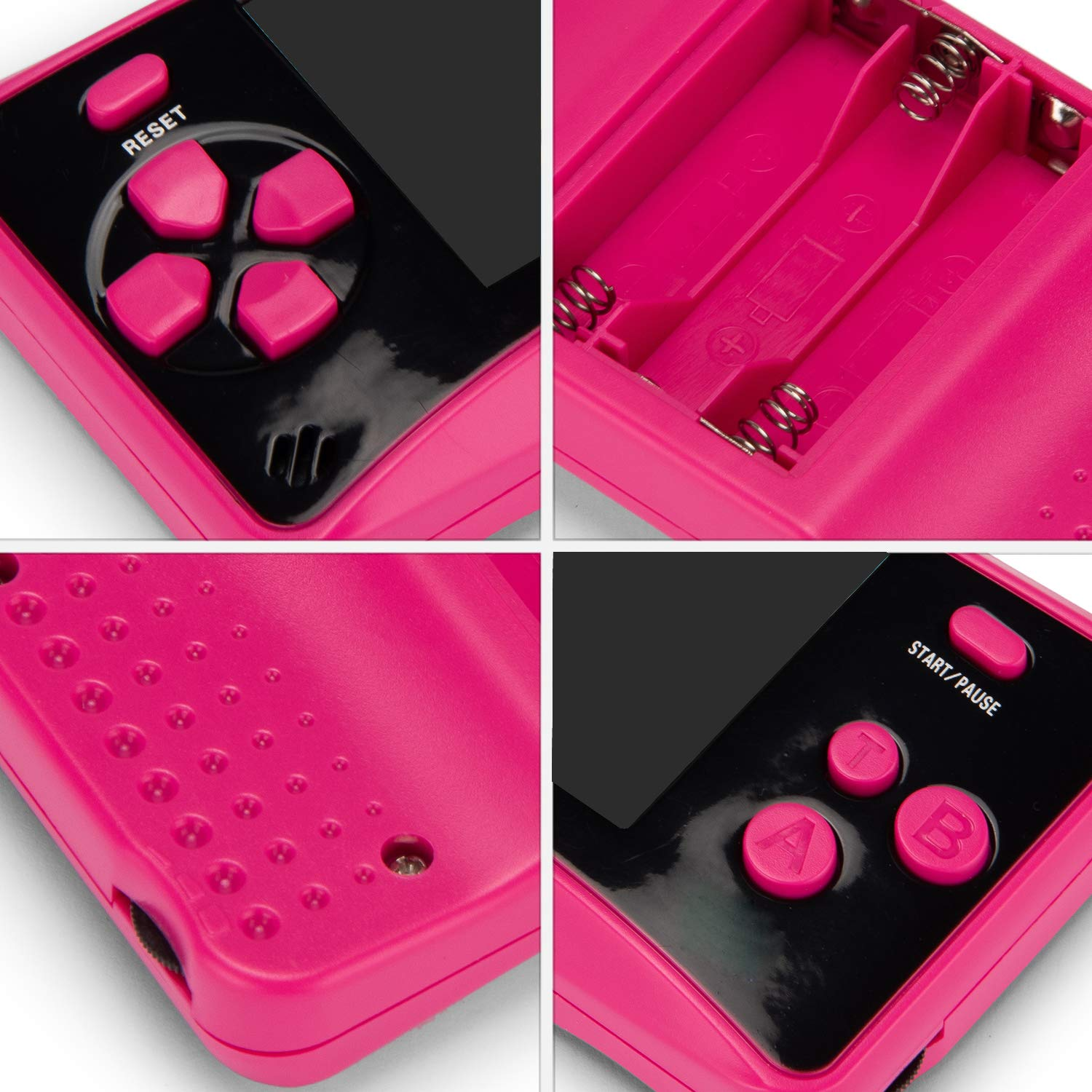 HigoKids Handheld Game Console for Kids Portable Retro Video Game Player Built-in 182 Classic Games 2.5 inches LCD Screen Family Recreation Arcade Gaming System Birthday Present for Children-Rose Red by HigoKids (Image #3)