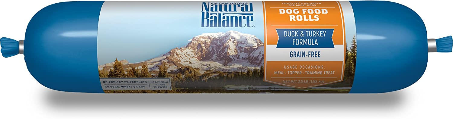 Natural Balance Duck Turkey Formula Dog Food Roll, 3.5 Lb