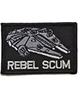 Rebel Scum Alliance Star Wars 2x3 Military Morale Funny Hook Fastener Patch - Black