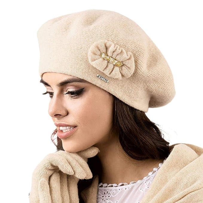Kamea Gorro Boina De Lana Para Mujeres Pesaro 4af2434d909
