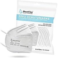MeaVita FFP2 wegwerp mond- en neusbescherming, verpakking van 10 stuks, wegwerpmasker KN95, elastiek