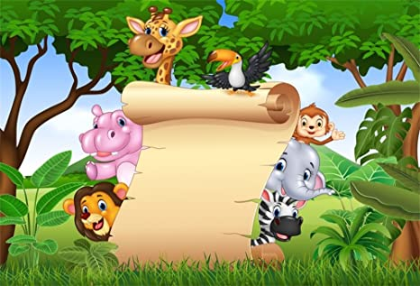 Amazon Com Lfeey 9x6ft Safari Backdrop For Baby Shower For