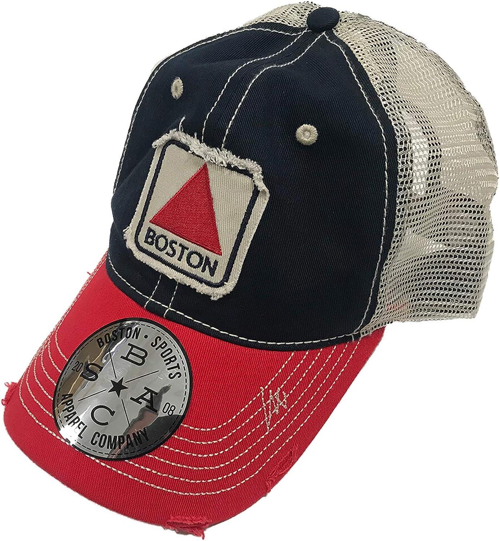 Navy//Red Boston Sports Apparel Trucker Hat Boston Citgo