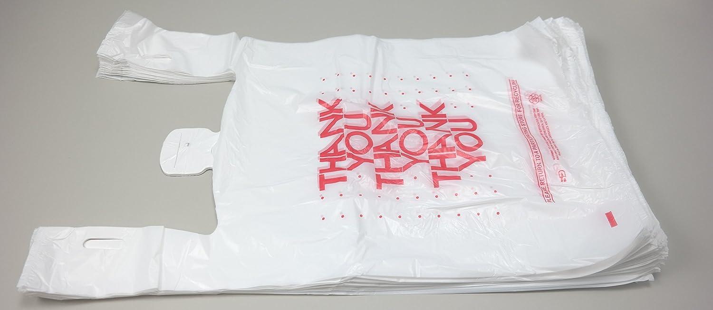 Black t shirt carryout bags 1000 ct - Amazon Com Plastic Bag 1000 Bags Cs Thank You White T Shirt Bag 11 5 X 6 5 X 21 13 Mic Kitchen Dining