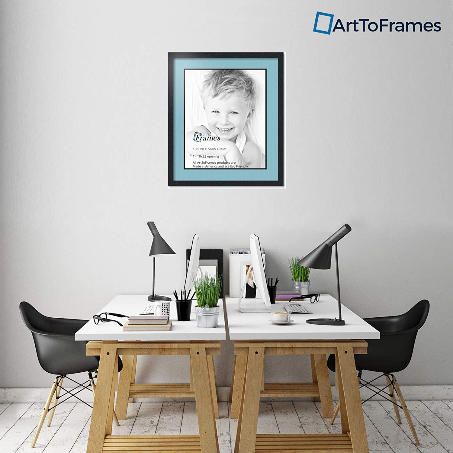 Art to Frames Double-Multimat-653-716//89-FRBW26079 Collage Photo Frame Double Mat with 1-18x22 Openings and Satin Black Frame