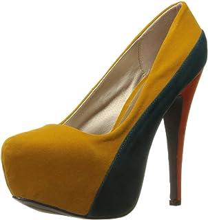 Amazon.com | Delicious Women's Jones Round Toe Platform High Heel ...