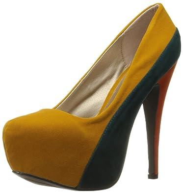 967439afdba Qupid Women's High Heel Almond Toe Platform Classic Stiletto Pump Shoes  Marquise-06