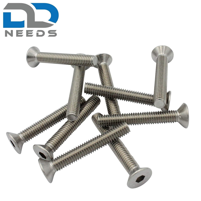 Lot de 4 vis /à t/ête frais/ée /à six pans creux DIN 7991 // ISO 10642 en acier inoxydable A2 V2A ISK