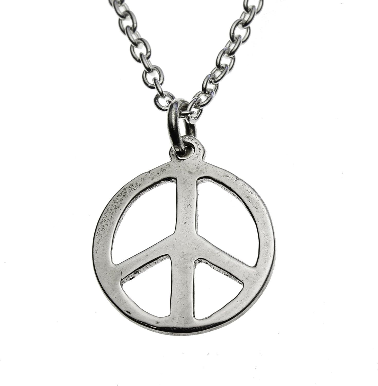 From War to Peace Collar con Colgante de símbolo de Paz pequeño ...