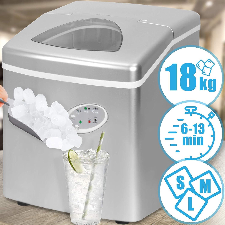 Jago - Machine à glaçons - 3 tailles de glaçons - réservoir d'eau : 3,2 l - affichage LED pratique