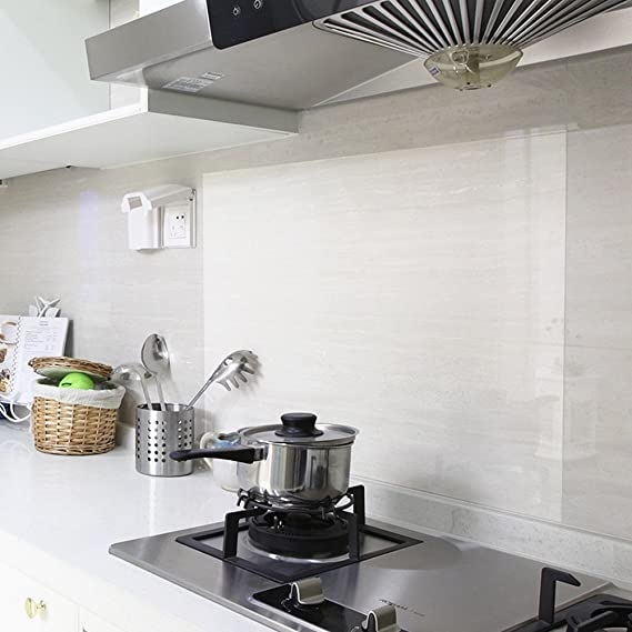 REDODECO 4Pcs Kitchen Backsplash Wallpaper Stickers Waterproof Oilproof High Temperature Resistant Transparent Environment-Friendly PVC - - Amazon.com