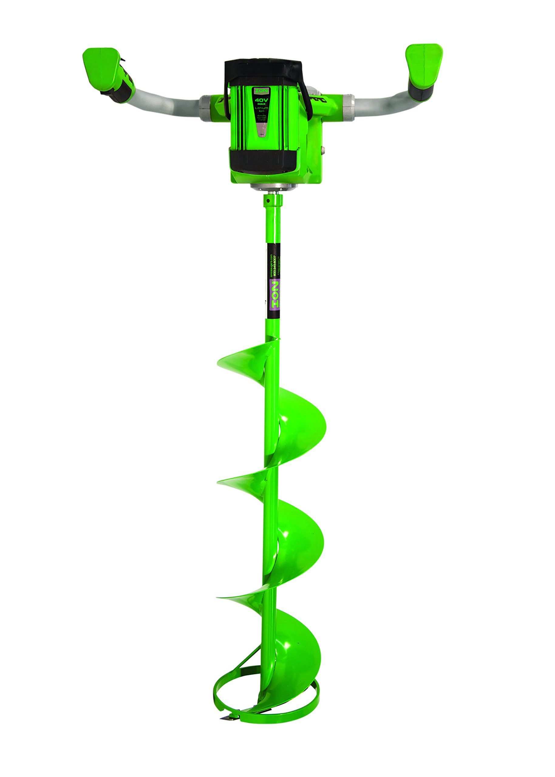 ION 19150 40V 3 amp-hour Electric 8-Inch Ice Auger, with Reverse by ION