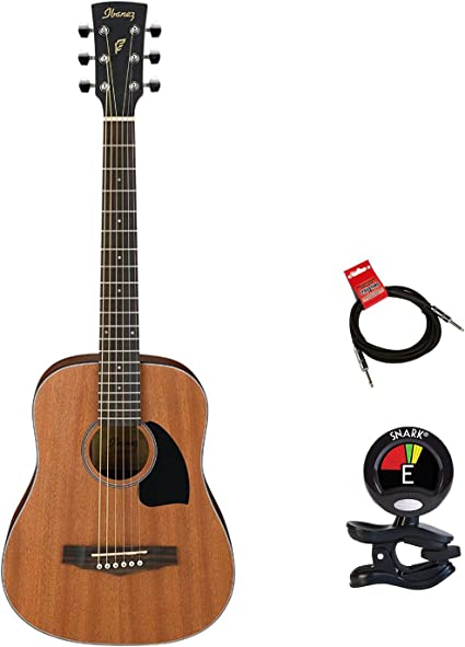 Ibanez guitarra pf2mhopn 3/4 Mini Dreadnought Guitarra Acústica ...