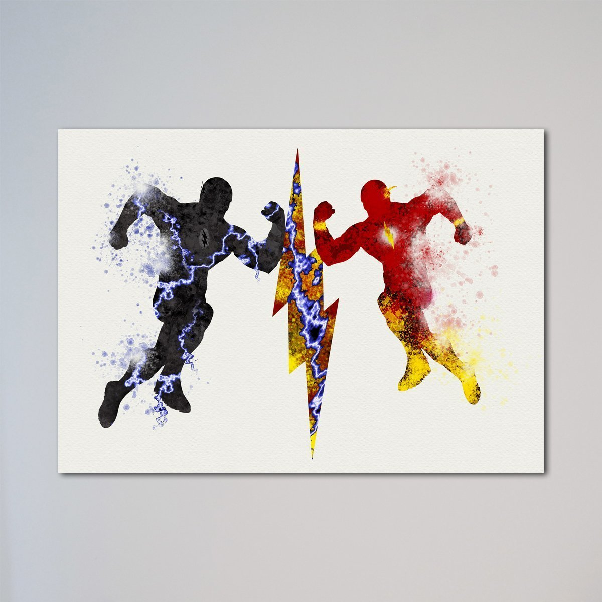 Amazon Com The Flash Vs Zoom Print Barry Allen Hunter Zolomon