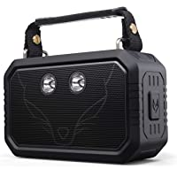 DOSS Traveler Waterproof Bluetooth Speaker, Portable Rugged Wireless Bluetooth Outdoor Stereo Speakers with 20W HD Sound-Black