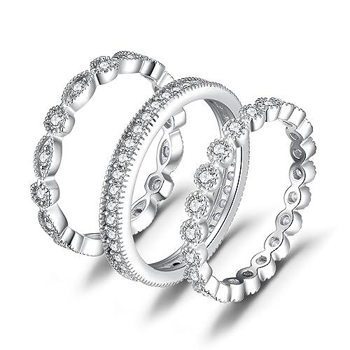 b1df05c4928f JewelryPalace Anillo elegante de boda adornado Circonita en plata de ley 925   Amazon.es  Joyería