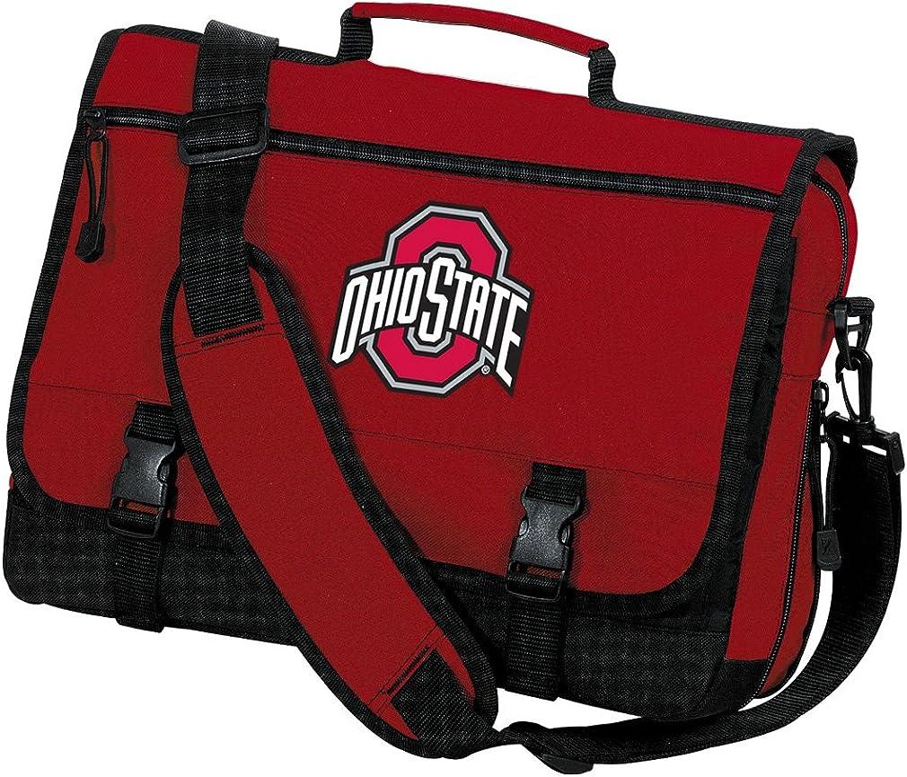 OSU Buckeyes Laptop Bag Ohio State University Messenger Bag or Computer Bag
