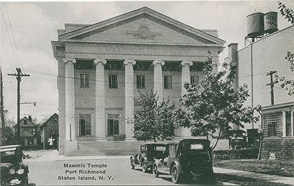 amazon com vintage postcard print masonic temple port richmond