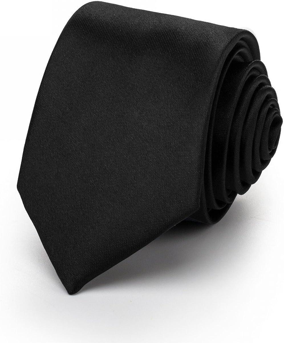 Schlips mit Taschentuch f/ür das Sakko - f/ür die Verlobung 2er-Set schwarz- Krawatte mit Einstecktuch uni die Hochzeit in vielen Farben Rusty Bob